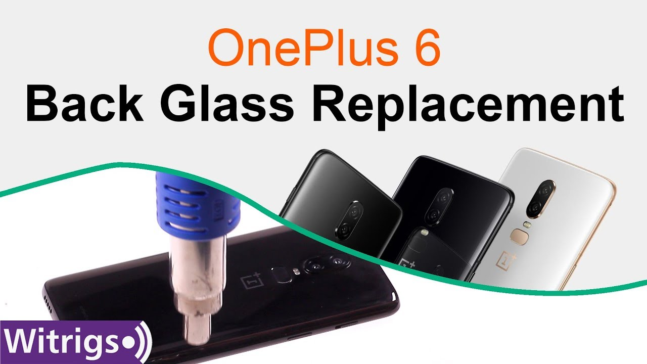 OnePlus 6 Back Glass Replacement - Battery Cover/Back Cover/Fingerprint  Scanner