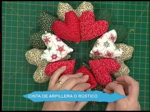 Guirnalda de corazones patchwork curtains