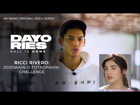 Ricci Rivero - Jojowain O Totropahin Challenge | Dayories