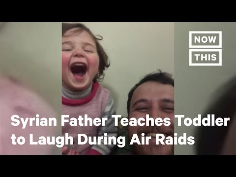 How This Syrian Father Keeps His Daughter Calm During Air Raids | NowThis