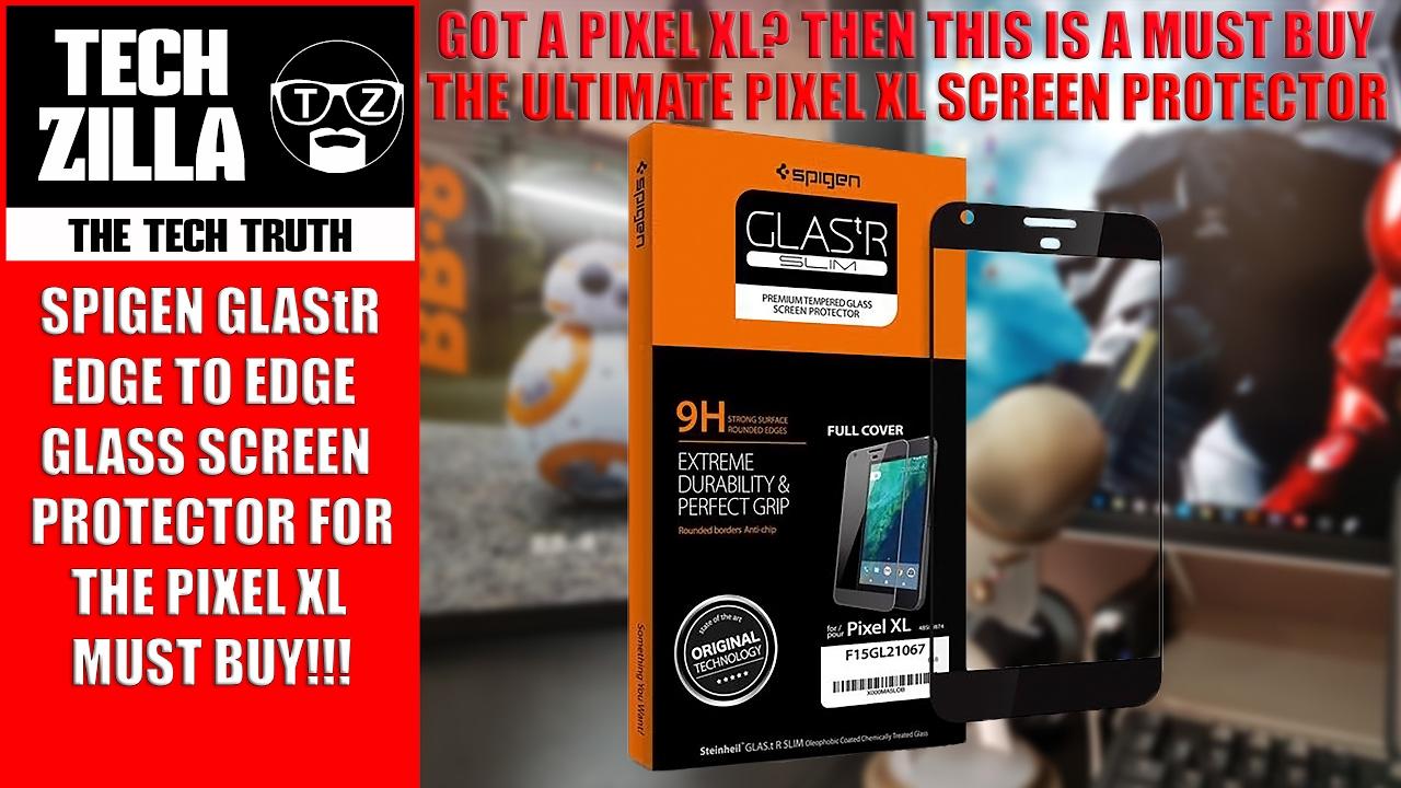 buy online 801d9 5f2b7 Pixel XL Spigen GLAStR Tempered Glass Screen Protector Review - Edge to Edge