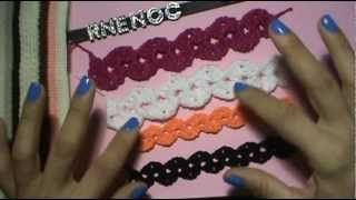 Repeat youtube video COMO TEJER TIRA PUNTO ABANICO CON VARETA GANCHILLO CROCHET
