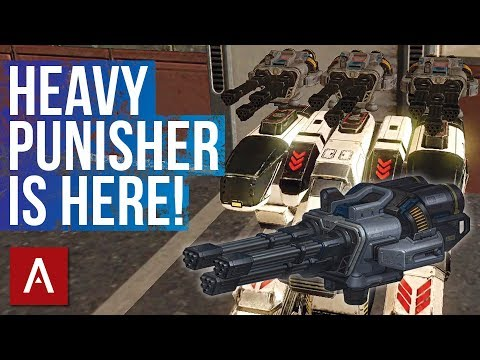 War Robots Test Server 4.0: New Weapon Avenger (Heavy Punisher)