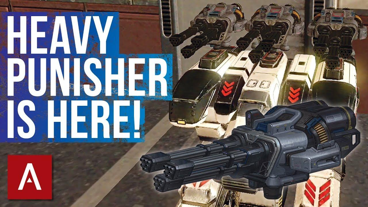 War Robots Test Server 4.0: New Weapon Avenger (Heavy ...