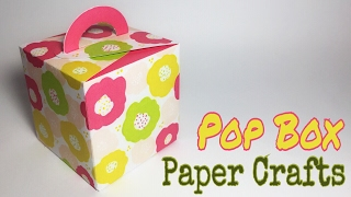 Flower Pop Box Paper Crafts tutorial !