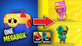 Get SANDY and LEON from ONE MEGABOX Brawl Stars Funny Moments & Fails & Glitches