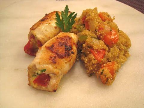 Cómetelo    Rulitos de pechuga con quinoa