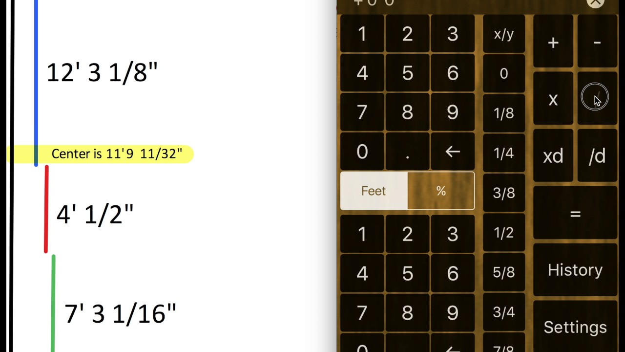 Feet And Inches Calculator Adding Dimensions