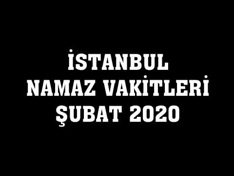 Namaz vakitleri 2020 istanbul