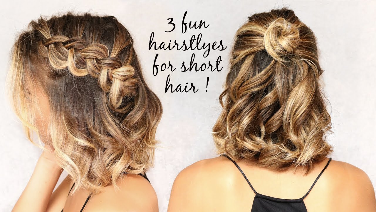 11 easy hairstyles for short hair!
