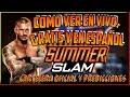 COMO VER WWE SUMMERSLAM EN VIVO, GRATIS, EN ESPAÑOL Y SU REPETICION | CARTELERA FINAL