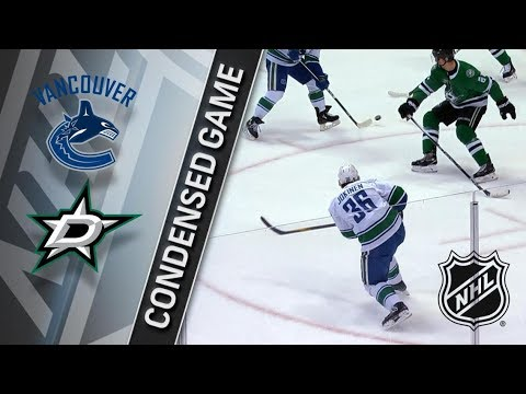 Vancouver Canucks vs Dallas Stars – Mar. 25, 2018 | Game Highlights | NHL 2017/18. Обзор