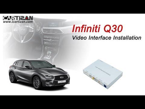 Infiniti Q30 multimedia video interface installation