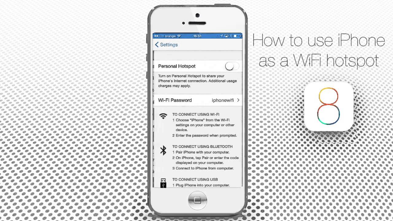How to Use an iPhone as Wi Fi HotSpot plus Instant HotSpot