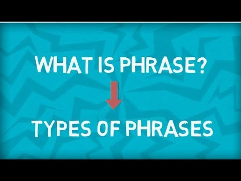 Types of Phrases | Five Types | What is a Phrase? | English Grammar