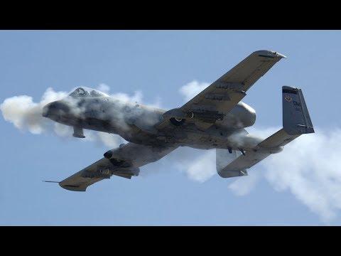 A-10 Warthog GAU-8 Cannon Strike Effect On Target