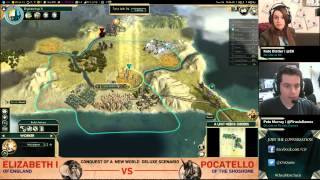 Civilization V: Conquest of the New World Deluxe Scenario Livestream (Archive)