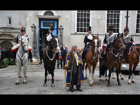 Sheriffs Of The City Of London Visit Stationers' Hall On Horseback