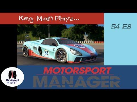 Keg Man Plays: Motorsport Manager Create a Team S4E8 Doha, Qatar