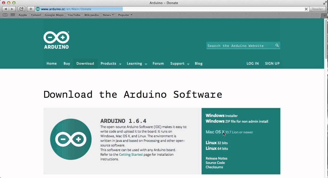 Arduino ide install for mac youtube