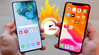 Galaxy S20 Ultra vs iPhone 11 Pro Max | TEST VELOCIDAD EXTREMO!!