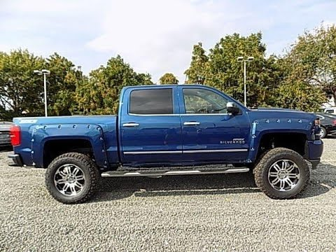Lifted Apex 2017 Chevy Silverado 1500 Ltz Z71 Blue