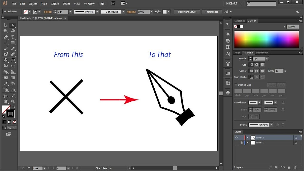 How to change the pen tool cursor from a cross back to normal in how to change the pen tool cursor from a cross back to normal in adobe illustrator quick tips youtube buycottarizona Gallery