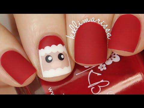 Santa Detail Nail Easy Tutorial for Christmas || KELLI MARISSA