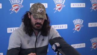 4.26.17 Thunder Exit Interviews with Steven Adams (Part 2 of 2)
