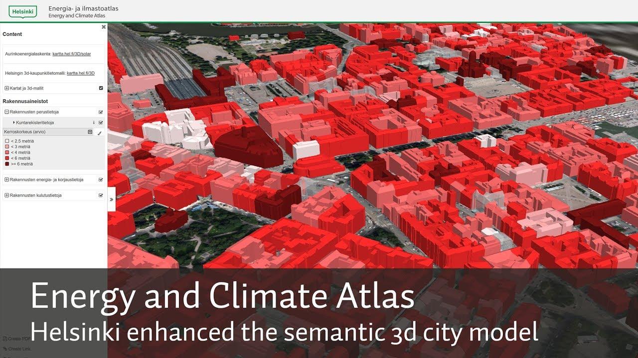 Helsinki Energy And Climate Atlas Citygml 3d City Model Youtube