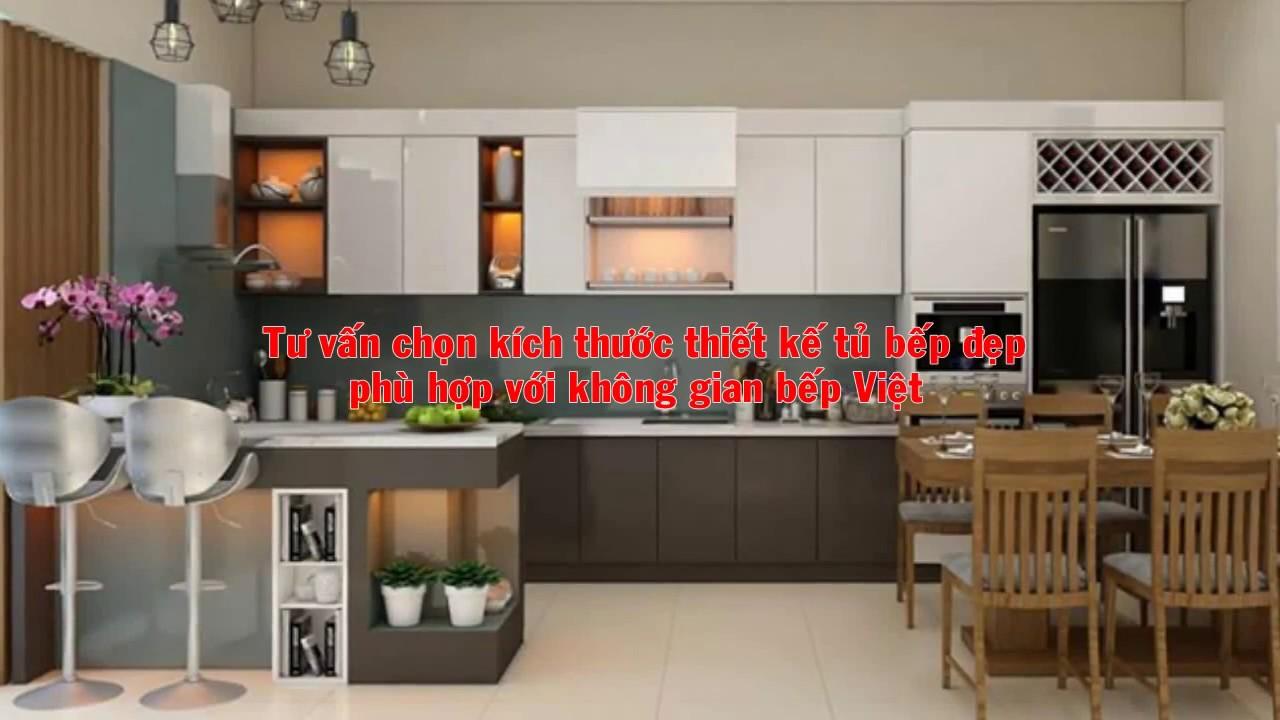 Tư vấn kích thước thiết kế tủ bếp đẹp hoàn hảo nhất cho gia đình Việt