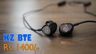 KZ BTE Hybrid Balance Armature Dynamic Driver Sports Bluetooth earphone for Rs. 1,400 approx