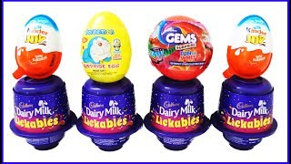 Kinder Joy Surprise Eggs Cadbury Dairy Milk Lickables Doraemon And Gems Surprise Egg ! Toys For Kids thumbnail