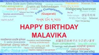 Malavika   Languages Idiomas - Happy Birthday