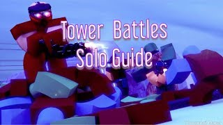 Roblox: Tower Battles guia solo (2019 março mais recente)