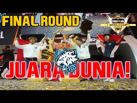 EVOS JUARA 1 FREE FIRE WORLD CUP 2019 | ROUND 7 FFWC 2019 (FINAL ROUND)