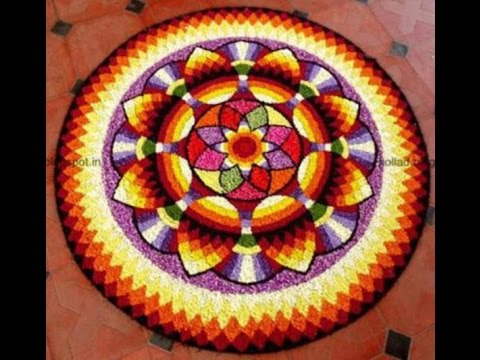 Prize winning pookalam Designs - flower rangoli
