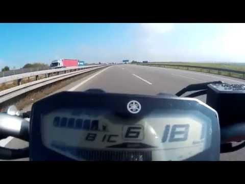 Yamaha MT-07 (FZ-07) - Top speed / velocidade máxima (Höchstgeschwindigkeit) HD