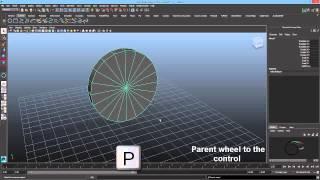 One Line Wheel Auto Rotation Script (Maya wheel Rigging Basic)