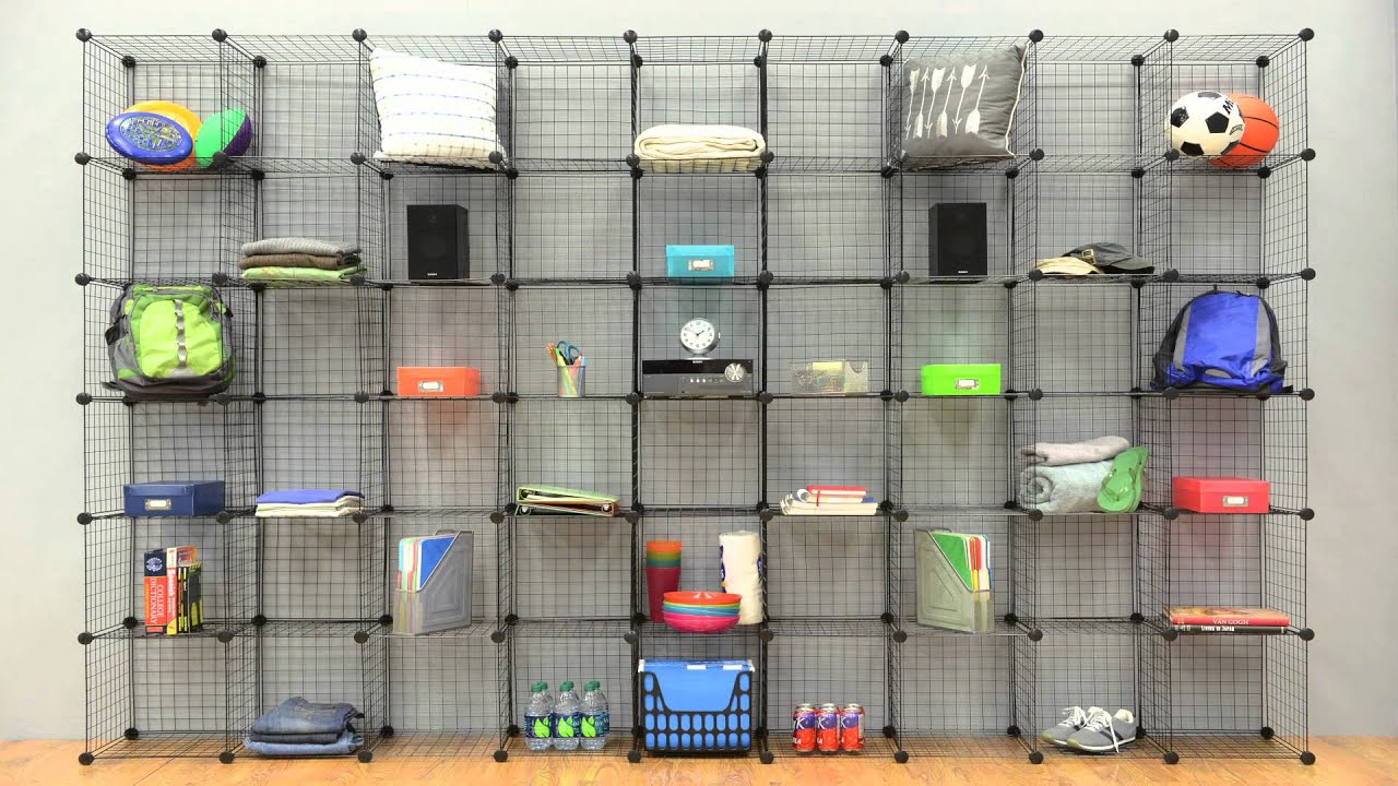 Whitmor Wire Storage Cubes - YouTube