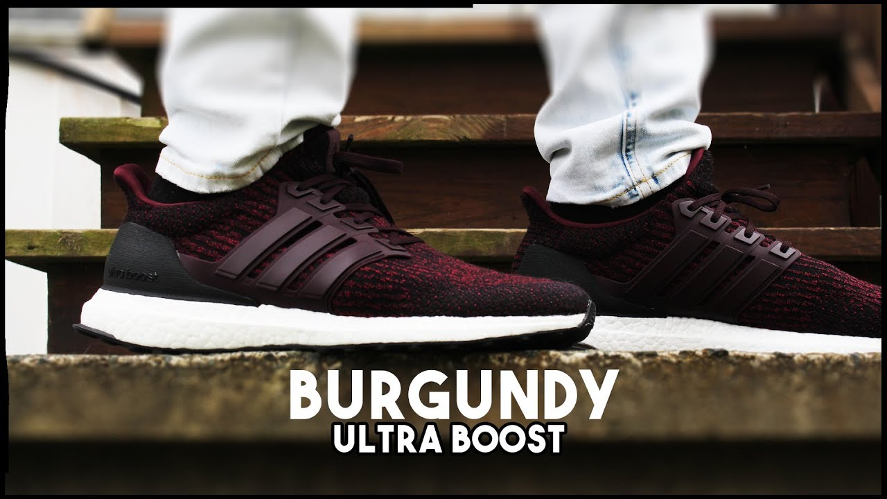 ba3fc8c9a Best Fall Shoe  - DEEP BURGUNDY ULTRA BOOST ON FEET AND CLOSE UP LOOK! -  NEW ULTRA BOOST 3.0