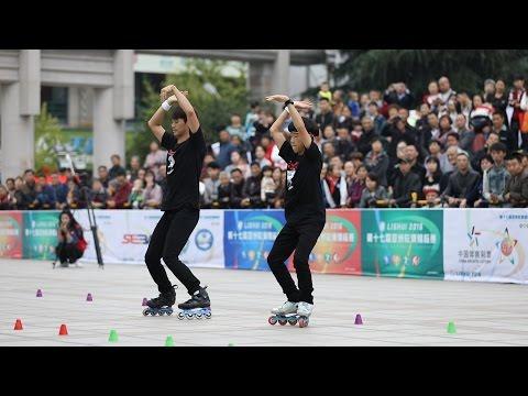 KJK KBG 2016 Asian Roller Skating Championship Pair Slalom 2nd , Kim Jun Kyeom , Kim Bong Geun