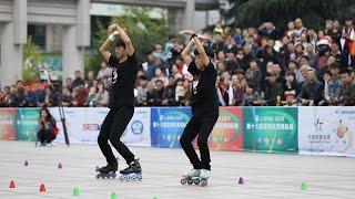 2016 亚洲轮滑锦标赛双人花桩亚军2016 Asian Roller Skating Championsh...