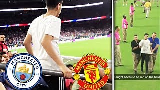 STREAKING the BIGGEST Soccer Game Ever!⚽️😱 (MAN CITY vs MAN UNITED) *ARRESTED*