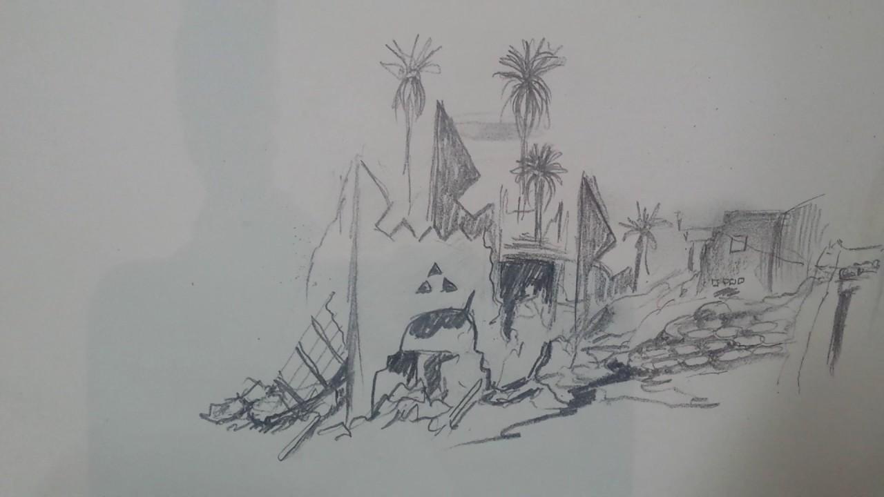 رسم بيت طين