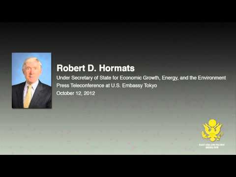 Under Secretary of State Hormats Teleconference Audio File
