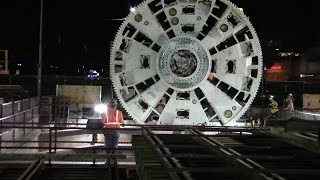 """TBM """"Harriet"""" Lowered at Expo/Crenshaw"""