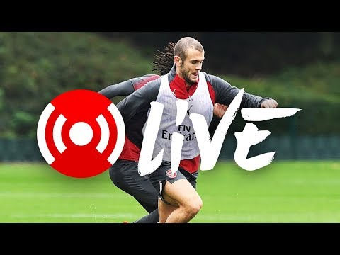 Live: join us for arsenal training at london colney, plus a special guest...