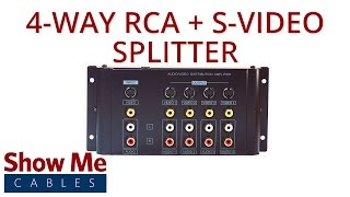 4-Way S-Video & Composite A/V Distribution Amplifier (1-in/4-out) #47-100-011