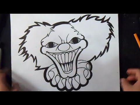 Wie Zu Zeichnen Ein Clown Graffiti Youtube